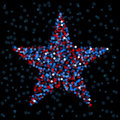 Defocused light star Stock Images