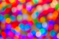 Defocused ligths background made of of the christmas decorations Royalty Free Stock Photos