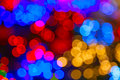 Defocused ligths background made of of the christmas decorations Royalty Free Stock Images