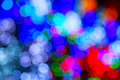 Defocused ligths background made of of the christmas decorations Stock Photos