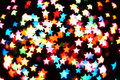 Defocused star bokeh Stock Photo