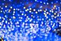 Defocused urban abstract texture, bokeh lights of city lights in