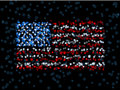 Defocused US flag Royalty Free Stock Images