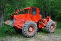Deforestation tractor Royalty Free Stock Photography