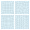Deformation grid. Set of four spatial forms - convex, concave,