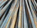 Deformed bars Steel shafts Royalty Free Stock Image