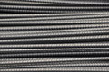 Deformed steel bars stock background Royalty Free Stock Photos