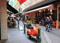 Degraves street melbourne australia famous dining area Royalty Free Stock Photos