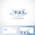 Degrees text number vector logo template of Stock Photography