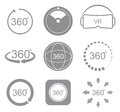 360 degrees view sign icon Royalty Free Stock Photo
