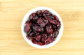 Dehydrated dried cranberries in bowl detailed studio shot Royalty Free Stock Photos