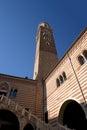 Dei de ragione e torre de della de palazzo lamberti verona italy Image stock