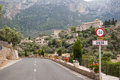 Deia view on mountain village mallorca spain Stock Image