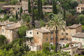Deia view on mountain village mallorca spain Stock Photography