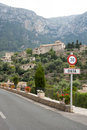 Deia view on mountain village mallorca spain Royalty Free Stock Photo