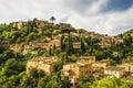 Deia village on majorca scenic view of the island of spain Royalty Free Stock Photos