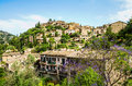 Deia village on majorca scenic view of in the serra de tramuntana the island of spain Royalty Free Stock Images
