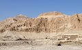 Deir el bahri in sunny ambiance panoramic view of egypt Royalty Free Stock Images