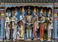 Deities on the exterior wall of the sri krishnan temple hindu in singapore waterloo street was established it is Royalty Free Stock Photography