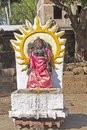 Deity of shri vishnu lord in the yard ancient alalanath temple brahmagiri orissa Stock Image