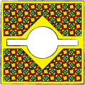 Dekorativ utdragen cubism inramar Fotografering för Bildbyråer