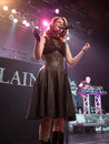Delain Dutch metal band perform in Budapest Royalty Free Stock Photos