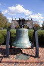 Delaware liberty bell located in front of the state capital building in dover de usa Stock Photo