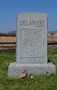 Delaware monument nationales schlachtfeld antietam maryland Stockfoto