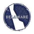 Delaware vector map.