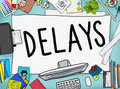 Delays interruption late obstruction suspend concept Stock Photo