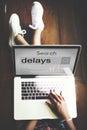 Delays interruption late postponed suspend concept Stock Image