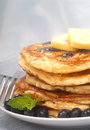 Delecious blueberry pancakes Royalty Free Stock Photo