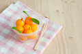Delectable imitation fruits kanom look choup thai national dessert Stock Photo