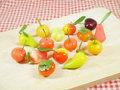 Delectable imitation fruits or lookchoup look choup thai dessert Stock Photography