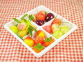 Delectable imitation fruits or lookchoup look choup thai dessert Royalty Free Stock Photo