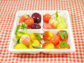 Delectable imitation fruits or lookchoup look choup thai dessert Royalty Free Stock Images
