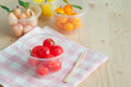 Delectable imitation fruits thai national dessert kanom look choup Royalty Free Stock Images