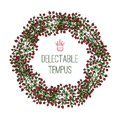 Delectable tempus wreath composed of branches with berries Stock Photography