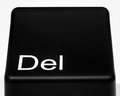 Delete button black on white background Royalty Free Stock Image