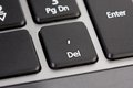 Delete button computer keyboard Stock Images