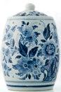 Delft blue pot Royalty Free Stock Photo