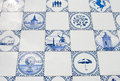 Delft blue tiles Stock Image
