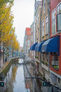 Delft Canal Royalty Free Stock Photo