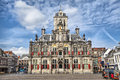 Delft city hall Royalty Free Stock Photo
