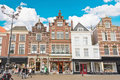 Delft Houses Architecture Royalty Free Stock Images