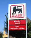 Delhaize group logo aalst belgium june sign outside a supermarket in aalst on june th is a belgian food retailer which Royalty Free Stock Images