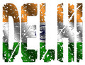 Delhi grunge text with flag Royalty Free Stock Images