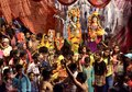 A Group of peoples celebration janmashtami festiva