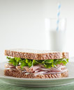 Deli meat sandwich. Royalty Free Stock Photo