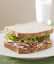Deli meat sandwich lunch Royalty Free Stock Photography